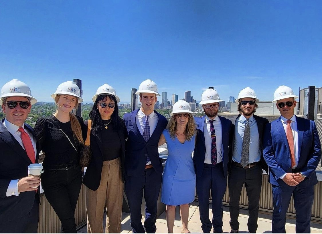 'Vita Team Touring One of Our Newest Properties That is Still Under Construction But Pre-Leasing!'